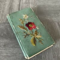 ANTIQUE HAND EMBROIDERED 1920s Small Notebook W/ Notes Great Look & Story