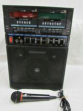 Lonestar Singalodeon Portable Stereo Karaoke Model K-5 Double Cassette Players +