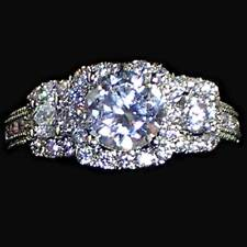 ROUND BRILLIANT_3-STONE_CLEAR CZ ENGAGEMENT / COCKTAIL RING_SZ-6_NF 925 SILVER