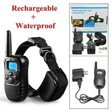 LCD 100LV Level Shock Vibra Remote Pet Dog Training Collar Rechargeable 300 Yard