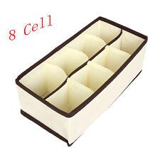 UK 6-24Cell Underwear Bra Sock Tie Storage Box Closet Organizer Drawer Container