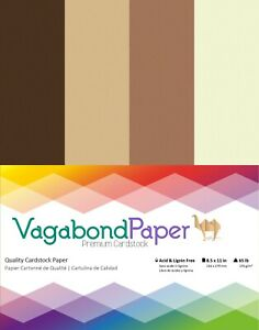 """Premium Quality 8.5"""" x 11"""" BROWN CARDSTOCK PAPER - 20 Sheets"""