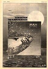 """MAN Slow Motion 1974 UK Poster size Press ADVERT 16x12"""""""