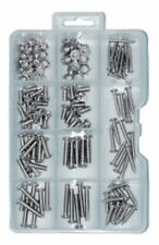 146 PIECE PLUMBER'S POPULAR BOLTS NUTS & SELF TAPPING SCREWS BOX