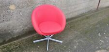 Red Swivel Tub Chair Grey Frame- A Real Piece of Heart FM History