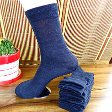 1Pairs Navy Men and Women Classic Style Pure cotton Crew Socks 20*22CM BWZ30-