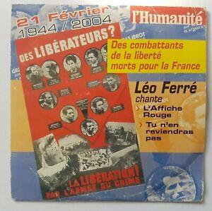 LEO FERRE - CD L'Humanité Rare ╚ L'AFFICHE ROUGE (Dejazet 1988) + INEDIT ARAGON