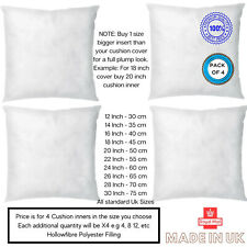Pack of 4 Extra Filled Cushion Pads Inserts Inners Fillers Scatters - All Sizes