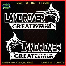 LAND ROVER stickers accessories Car MX Funny decal GREAT NORTHERN 200mm PAIRLR