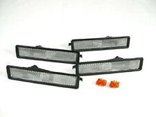 4 PIECES Front+Rear Clear Bumper Side Marker Lights For 1984-91 BMW E30 3 Series