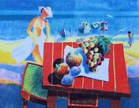Yves Antony: Desayuno Para El Playa - Litografía Original Firmada #275ex #1982