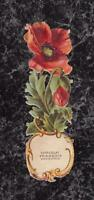 Victorian Die Cut Scrap Advertising Chocolate Francois Bordeaux Red Poppy 5x1.5