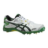2017 Asics Gel Advance 6 White Green Cricket Spikes Sizes UK 7 8 9 10 12