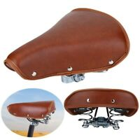 Universal Soft PU Leather Bicycle Saddle Durable Vintage Spring Cycling Seat