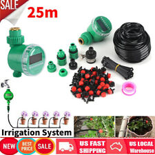 82Ft Automatic Drip Irrigation System Plant kit Watering Garden Lawn Hose Timer