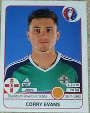 335 Corry Evans NORTHERN IRELAND Panini Euro 2016 France sticker