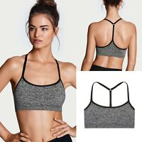 Victoria's Secret T-Back Seamless Sports Bra - Black Marl - S, M, L