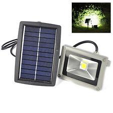 6000K 10W Solar Weiß LED Flutlicht Fluter Scheinwerfer Strahler IP44 Wasserdicht