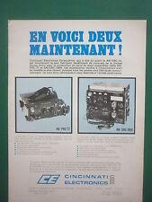 3/1974 PUB CINCINNATI ELECTRONICS AN / PRC-77 AN / GRC-106A US ARMY FRENCH AD