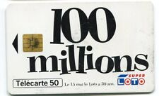 TELECARTE 50  100 MILLIONS SUPER LOTO