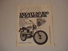 advertising Pubblicità 1970 DUCATI 50/100 SCRAMBLER