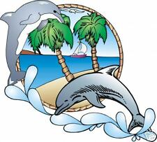 """DOLPHIN FULL COLOR DECAL GRAPHIC 5"""" X 5 1/2"""""""