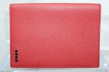 Tod's Men's Red Passport Holder Wallet Credit Card Case Bi-Fold Leather NWT