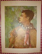 Vietnam Liberation War Art - A Young Guerrilla - Travels Far in Jungle - Vc - 32