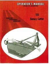 Ih International Farmall Mccormick No 111 Rotary Mower 3pt Brush Cutter Bush Hog