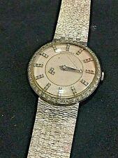Longines VINTAGE MISTERO Wind-Up Dial Watch 14K oro bianco oro e diamanti