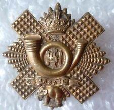 Badge- Highland Light Infantry Officers Cap Badge, HLI (BRONZE, Genuine*) RARE