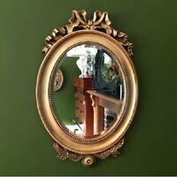 French OVAL Gold Antique Style Wall Mirror Antique Ornate