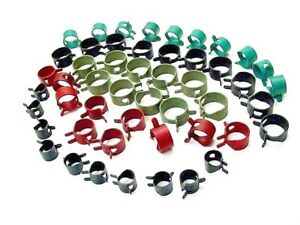 50x Oldsmobile Vacuum Fuel Hose Pinch Spring Clip Clamp Kit Pack Clips Clamps