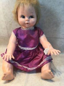 "Vtg  Lorrie Doll 1971 blonde Hair Side Glance Eyes Drink Wet 16"""