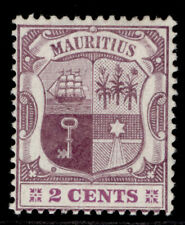 More details for mauritius edvii sg165a, 2c dull & bright purple, m mint. cat £32.