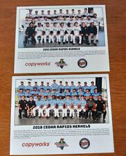 Pair of 2018 Cedar Rapids Kernels baseball team photos, great corners!!