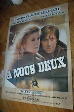 CATHERINE DENEUVE JACQUES DUTRONC A NOUS DEUX 1979 AFFICHE FRENCH POSTER