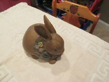 "Brown Rabbit , 9""X8""X6"" , Desk Top , Door Stop , Vintage"