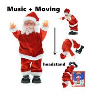 Weihnachtmann Figur Singend Handstand Santa Claus Nikolaus 29 cm