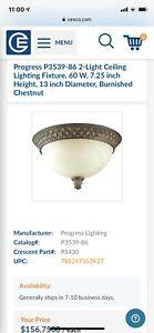 ceiling light fixture burnished chestnut
