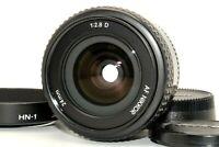 Near Mint Nikon AF NIKKOR 24mm f/2.8 D Ultra Wide Angle Lens Cap Hood HN-1 Japan