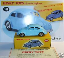 DINKY TOYS ATLAS VW VOLKSWAGEN KAFER COX COCCINELLE BLEU REF 181 1/43 IN BOX