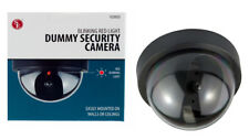 Dummy Fake Surveillance Security Dome In/Outdoor Camera w/Flashing Red LED