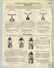 1936 PAPER AD 4 PG Coleman Lamps Lantern Parts Repair Price Lists