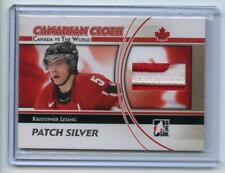 ITG CANADA VS THE WORLD CANADIAN CLOTH GAME USED PATCH SILVER /3 Kris Letang