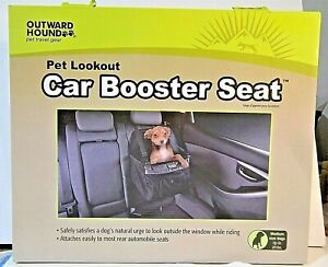 Outward Hound Pet Lookout Car Booster Seat Adjustable Straps Dogs Up To 20 Lbs.