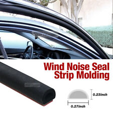 Car Door Wind Noise Seal D Shape Rubber Strip Molding 13Ft for NISSAN Car