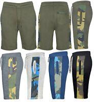 Mens Elasticated Waist gym Combat Camo Shorts Pants Bottom Half Pant Zip Sports