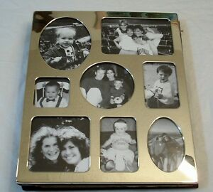 ROYAL LIMITED LARGE SILVERPLATE COLLAGE ALBUM FRAME HOLDS 100 PICTURES