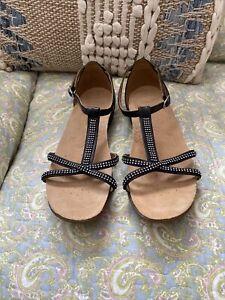 Clarks Active Air Sparkly Black Sandals Size 4D